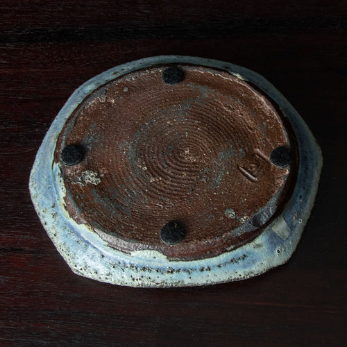 Crackle glazed bowl by Thorkild Olsen for Royal Copenhagen N7588