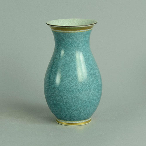 Vase with blue and gray crackle glaze by Royal Copenhagen N7642