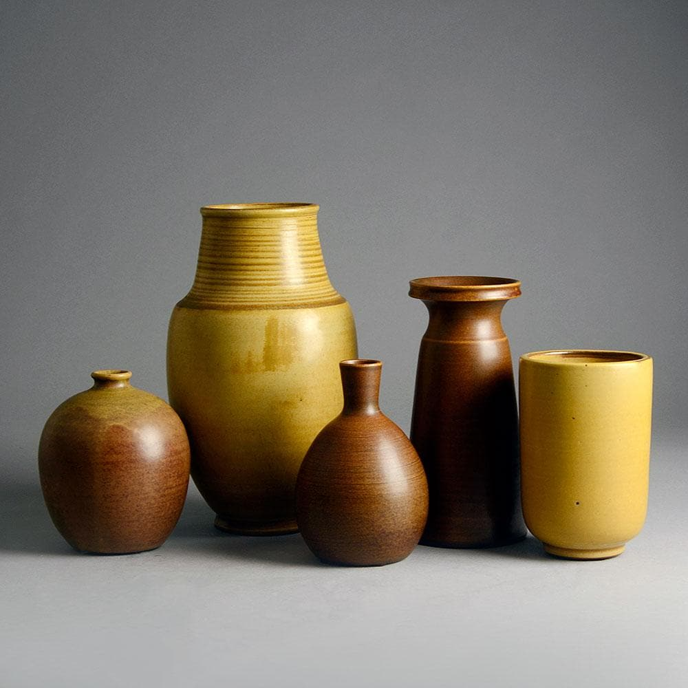 Group of vases by Erich and Ingrid Triller for Tobo