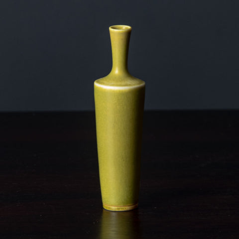 Stoneware vase with matte black and white glaze by John Leach