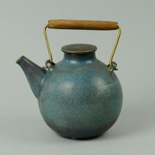 Unique hand thrown teapot by Stig Lindberg N3735
