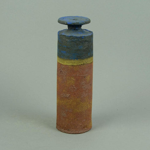 Unique ceramic bottle vase by Robin Welch
