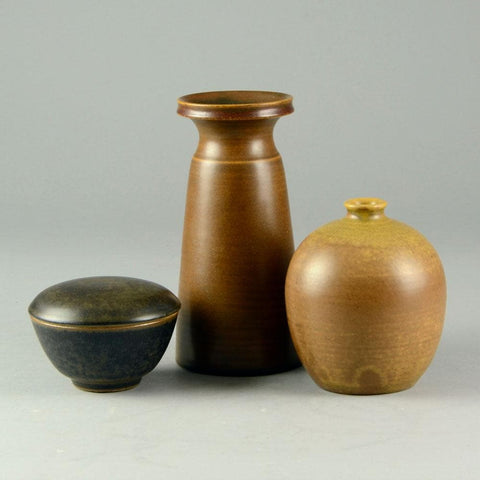 Tobo vases and jar  by Erich and Ingrid Triller for sale