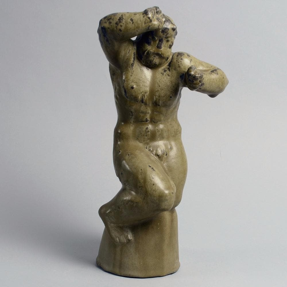 Stoneware figure of troll by Arne Bang