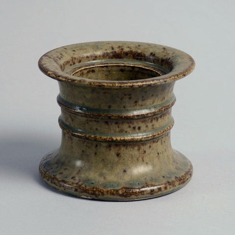 Cylindrical stoneware small vase by Arne Bang