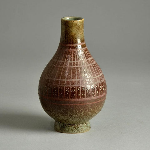 Jean Besnard, France, stoneware vase with oxblood glaze