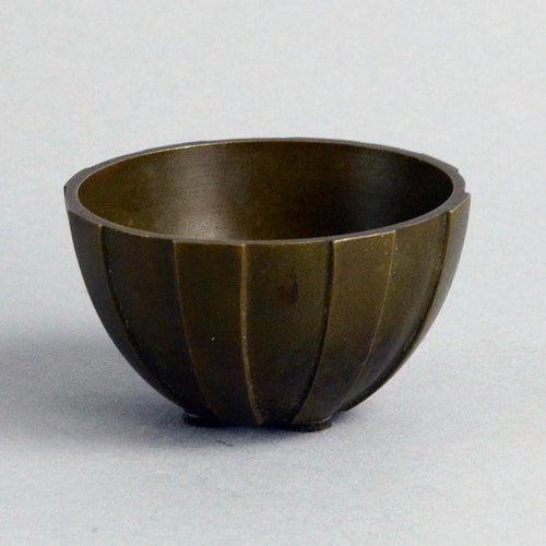 Bronze fluted bowl by Just Andersen for GAB A1015