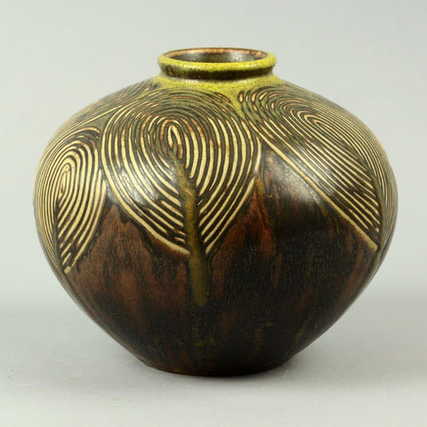Living Stones vase Axel Salto for Royal Copenhagen, Solfatara glaze
