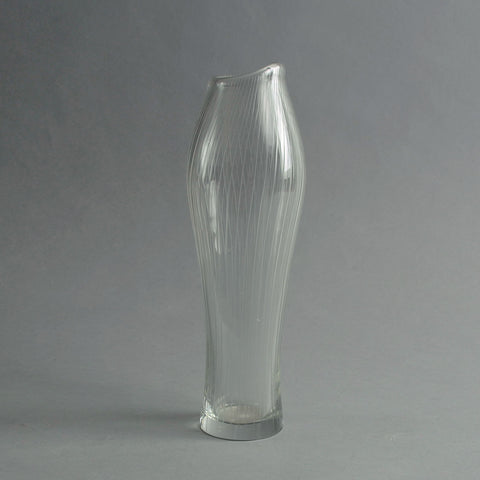 Glass Foal's Foot vase by Tapio Wirkkala for Iittala