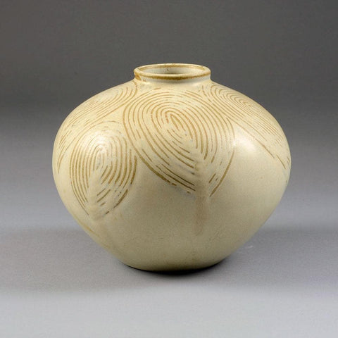 """Living Stones"" vase with cream glaze by Axel Salto"