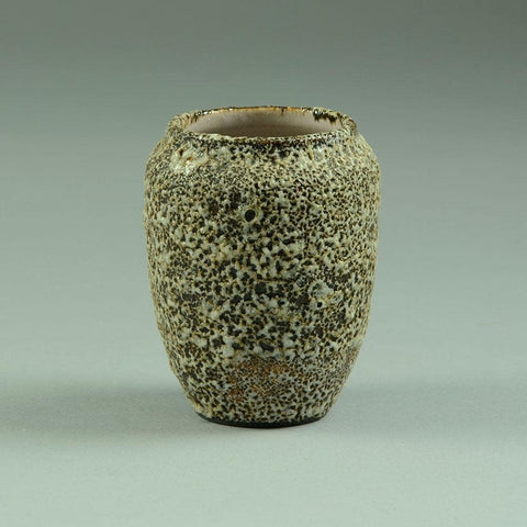 Small vase with volcanic glaze by Jean Besnard