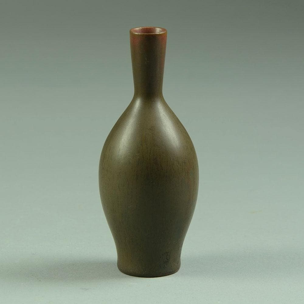 Carl Harry Stalhane for Rorstrand, Sweden   Stoneware cabinet vase