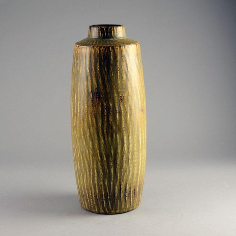 Stoneware vase with matte streaky brown glaze by Gunnar Nylund D6262