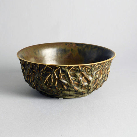 Axel Salto for Royal Copenhagen, large bowl with brown glaze