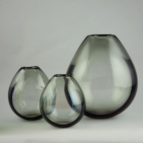 Per Lutken for Holmegaard, three soap bubble vases.