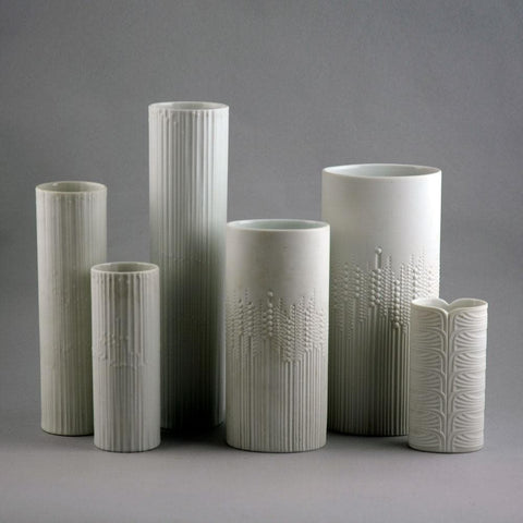 Six vases with white  glaze Tapio Wirkkala for Rosenthal