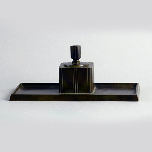 Bronze Inkwell by Just Andersen for GAB