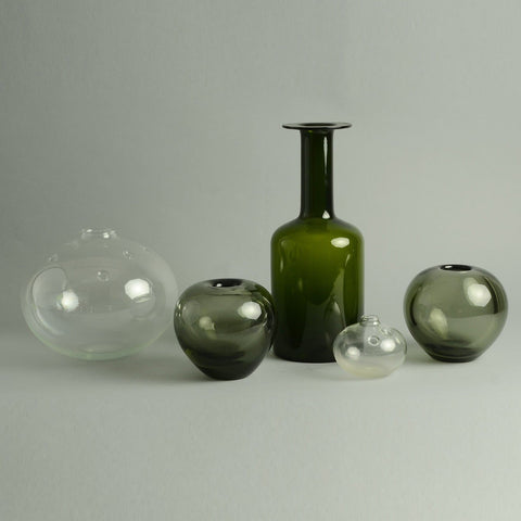 Five vases by Holmegaard