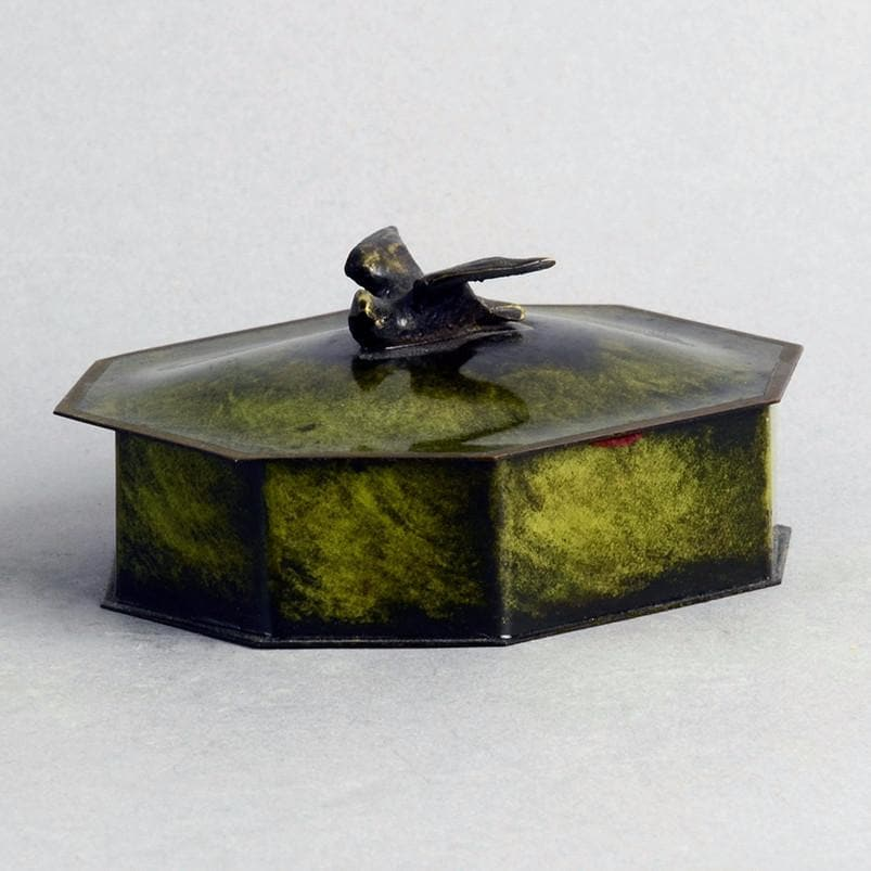 Bronze lidded box