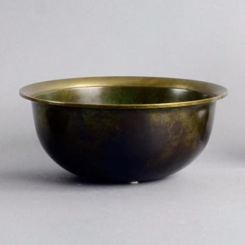 Bronze bowl with flared rim by Just Andersen