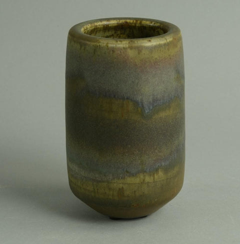 Unique stoneware vase by Karl Scheid