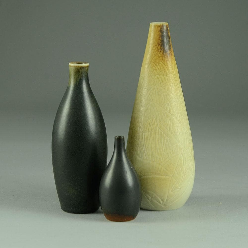 Carl Harry Stalhane for Rorstrand, group of three vases