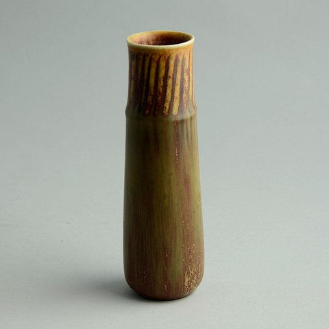 Eva Staehr Nielsen for Saxbo, small vase with brown glaze D6254