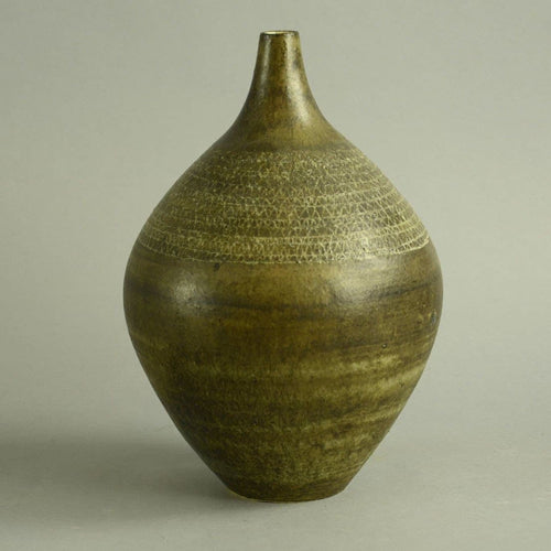 Unique stoneware vase by Erik Ploen