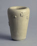 Stoneware vase with rosettes and white glaze by Arne Bang