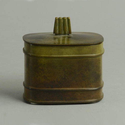 Bronze lidded box by Just Andersen for GAB