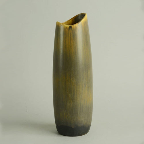 Stoneware vase with streaky brown glaze by Gunnar Nylund N8707