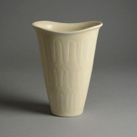 Gunnar Nylund for Rorstrand white vase for sale