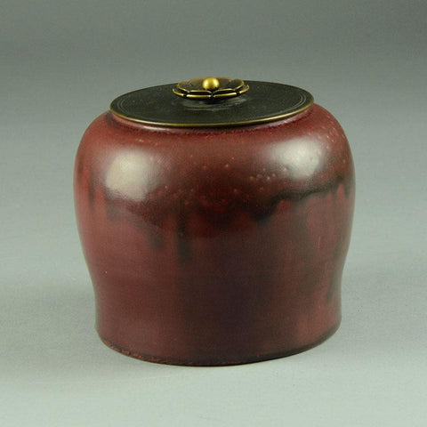 Patrick Nordstrom and Carl Halier, jar with oxblood glaze