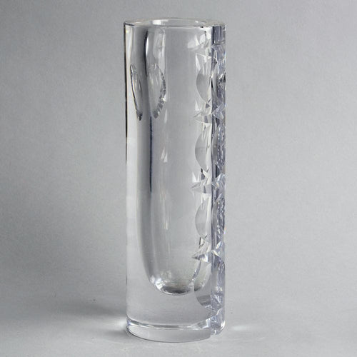 Clear glass vase by Mona Morales Schildt for Kosta