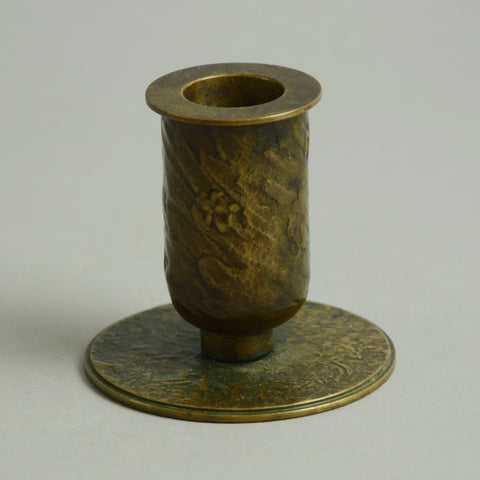Bronze candle holder by Evan Jensen