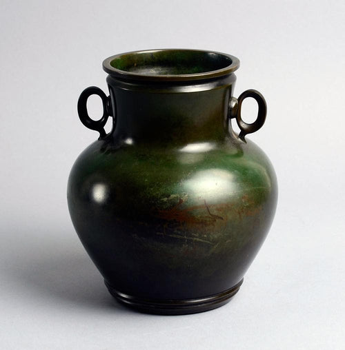 Bronze urn with two handles by Just Andersen N8382