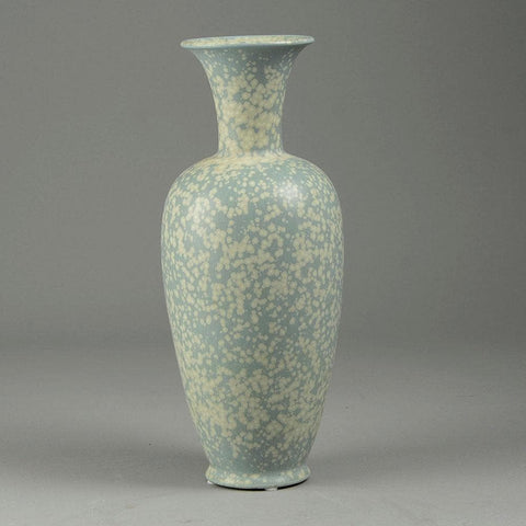 Gunnar Nylund for Rorstrand stoneware vase with gray crystalline glaze C5175