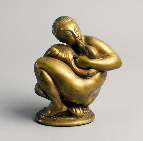 """Leda and the Swan"", bronze figure by Kai Nielsen N9290"