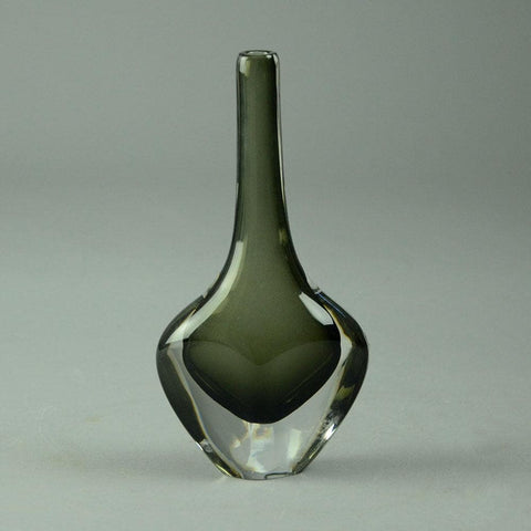 "Nils Landberg for Orrefors, Gray glass ""Sommerso"" vase"