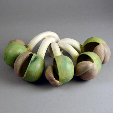 Beate Kuhn stoneware pod-formed sculpture D6380