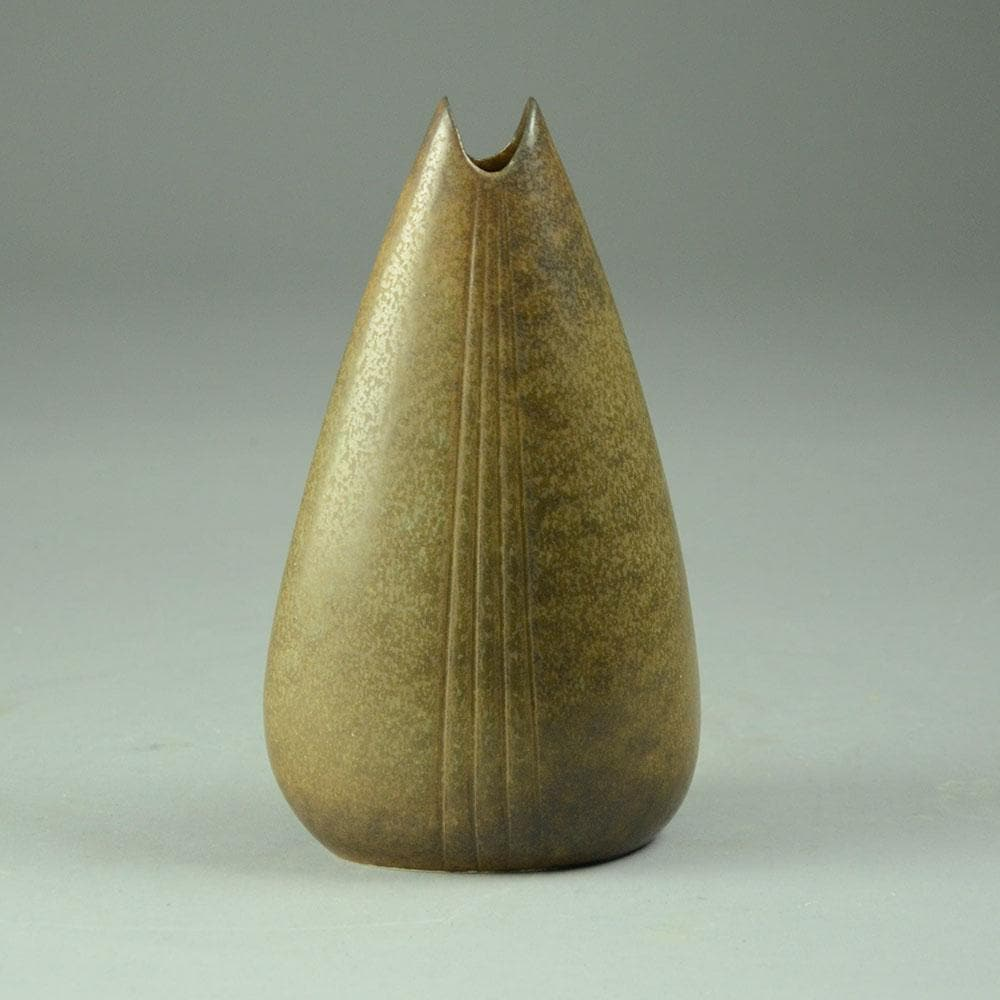 Gunnar Nylund for Rorstrand, vase with brown haresfur glaze C5180