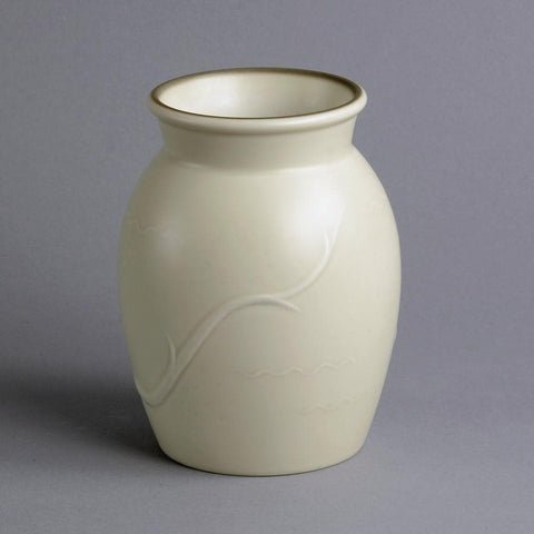 White vase by Ebbe Sadolin for Bing and Grondahl
