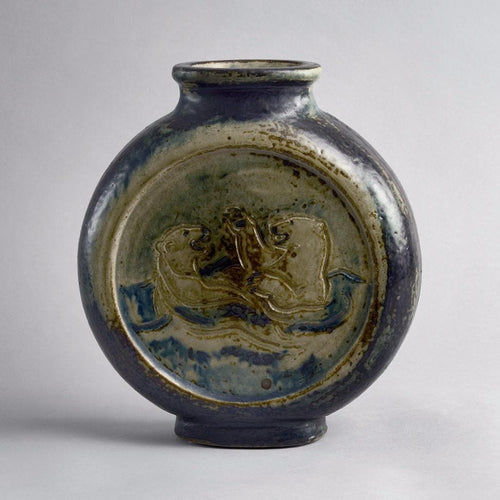 Flattened vase by Knud Kyhn for Royal Copenhagen A1815