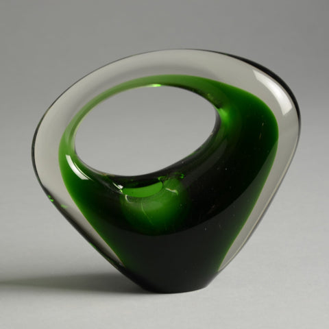 """Bison"" glass vessel by Per Lutken for Holmegaard for sale"