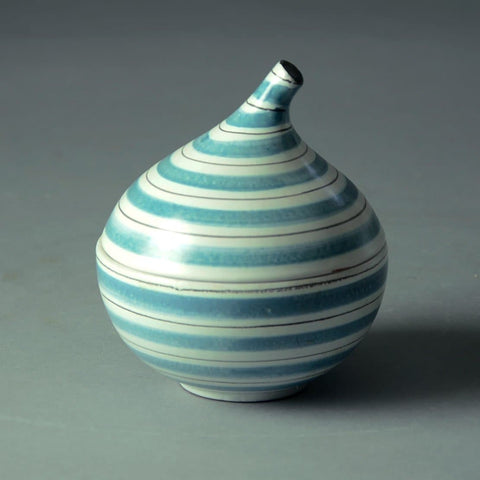 "Stig Lindberg for Gustavsberg, lidded faience ""onion"" jar"