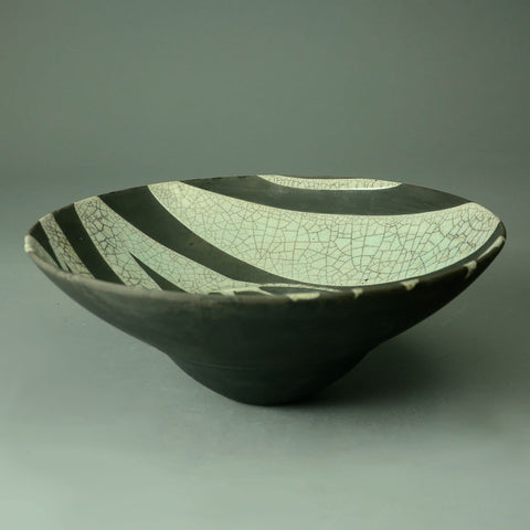 Tim Andrews, UK earthenware raku bowl C5256