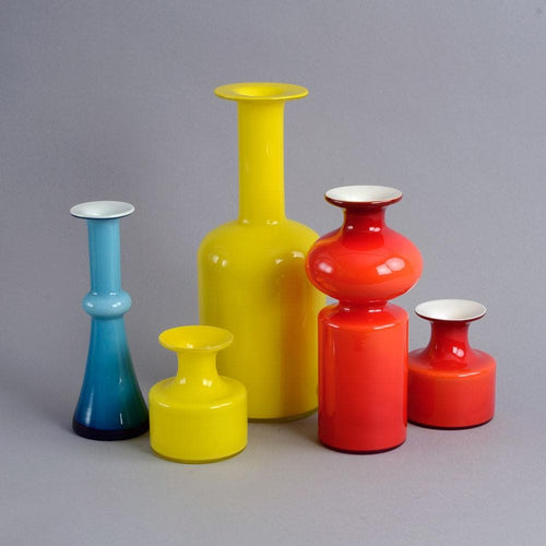 Group of vases by Holmegaard