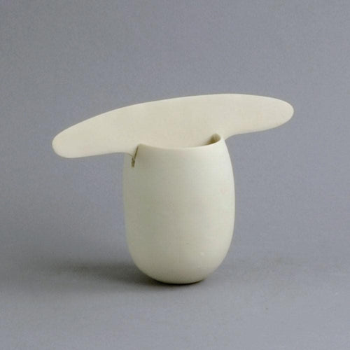 Unique porcelain two piece sculptural vessel by Ruth Duckworth