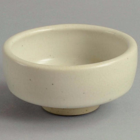 Stoneware bowl with white glaze by Antje Brüggemann-Breckwoldt