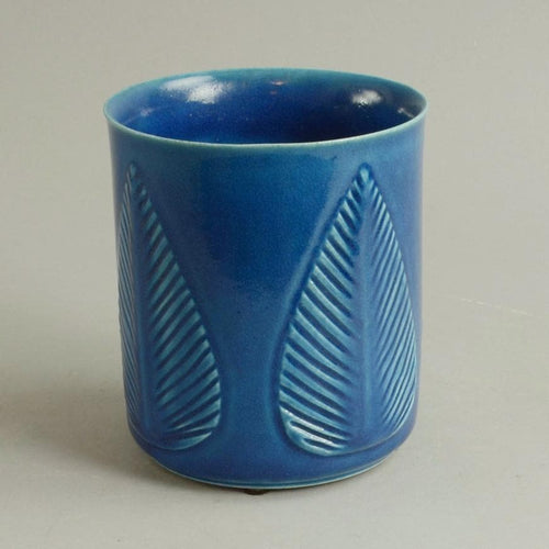 Vase with turquoise glaze by Gerd Bogelund N2705